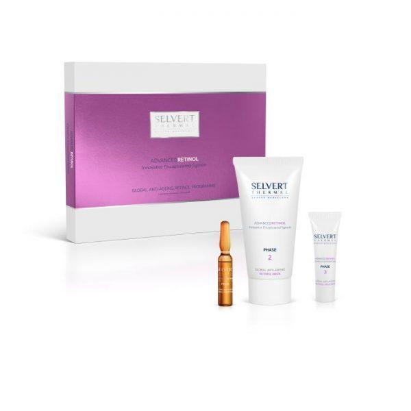 Artikelnummer:321101 Deze box bevat een geavanceerd serum, masker en emulsie met retinol systeem en gaat de veroudering van de huid tegen. Geschikt voor 5 behandelingen.