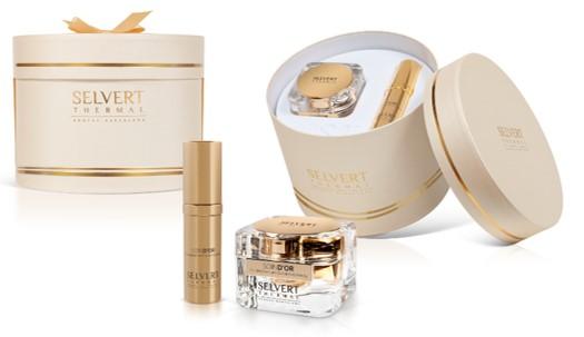 Luxe en exclusieve anti-aging schoonheidsproducten met 18K goud Inhoud: PURE GOLDEN CREAM 18K (50ml) Luxe anti-ageing cream met actieve ingrediënten zoals 18K goud voor intensief huidherstel. PURE GOLDEN OIL (30ml) Voed en hydrateert de gezichtshuid met deze voortreffelijke olie voor een uitzonderlijke helderheid en glans.